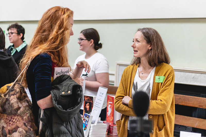 Writers at book fair
